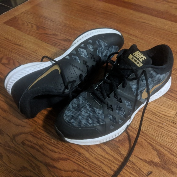 Nike Shoes | Nike Black Camo Gold